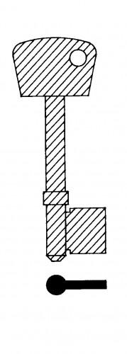 Chubb TS179B 3G114 Brass Mortice Blank (Pack of 10)