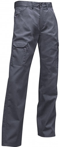 TRUELLE MULTI POCKET GREY WORK TROUSERS 101018